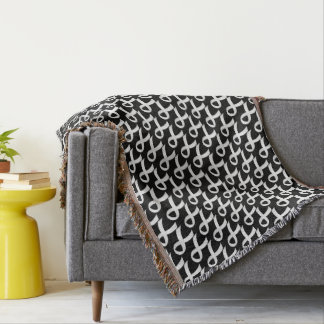 Lung Cancer White Ribbon Throw