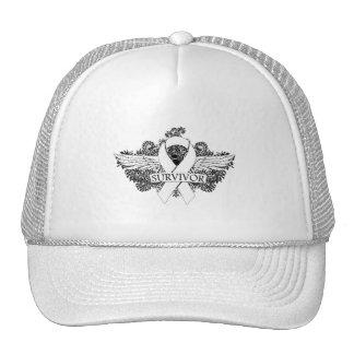 Lung Cancer Winged SURVIVOR Ribbon Trucker Hat