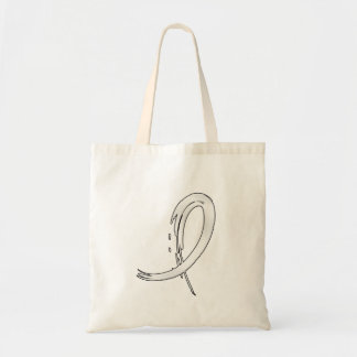 Lung Cancer's Pearl Ribbon A4 Tote Bag