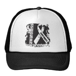 Lung Disease Awareness Grunge Ribbon Hat