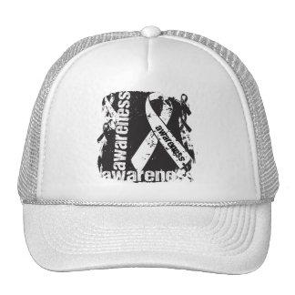 Lung Disease Awareness Grunge Ribbon Trucker Hat