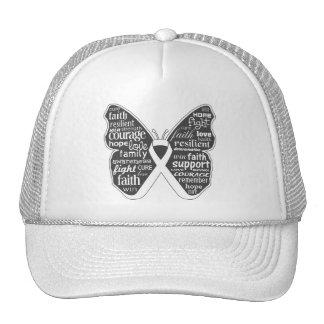 Lung Disease Butterfly Ribbon Trucker Hat