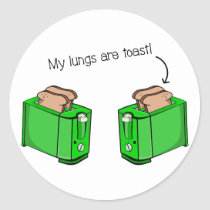 Lung disease cystic fibrosis classic round sticker