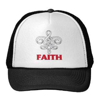 Lung Disease Faith Fleur de Lis Ribbon Hats