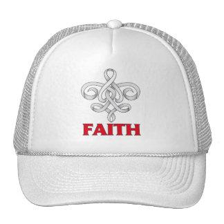 Lung Disease Faith Fleur de Lis Ribbon Trucker Hat