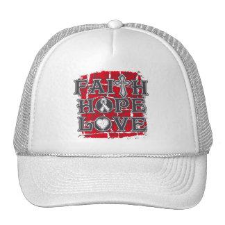 Lung Disease Faith Hope Love Hat
