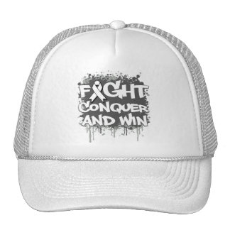 Lung Disease Fight Conquer and Win Mesh Hat