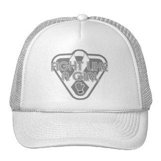 Lung Disease Fight Like A Girl Glove Trucker Hats