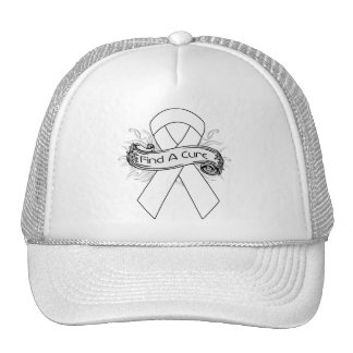 Lung Disease Find A Cure Ribbon Hats