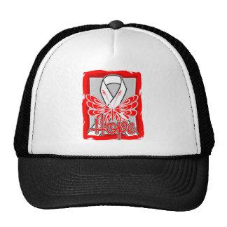 Lung Disease Hope Butterfly Trucker Hats
