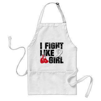 Lung Disease I Fight Like A Girl (Grunge) Apron