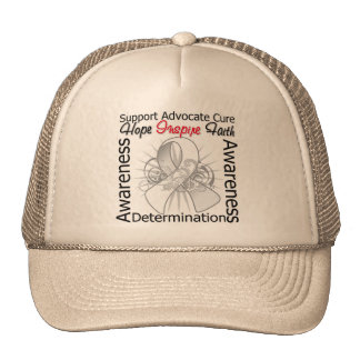 Lung Disease Inspirations Spiral Ribbon Trucker Hats