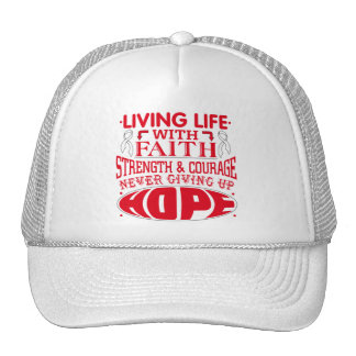 Lung Disease Living Life with Faith Hats