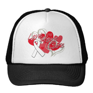 Lung Disease Love Hope Cure Hats