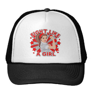 Lung Disease Modern Rosie Fight Like a Girl Trucker Hat