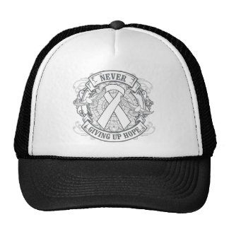 Lung Disease Never Giving Up Hope Mesh Hat