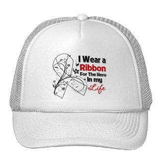 Lung Disease Ribbon Hero in My Life Hats