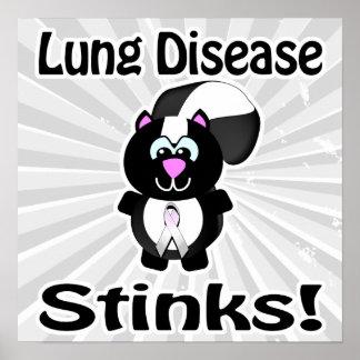 Lung Disease Stinks Skunk Awareness Design Poster