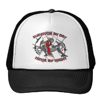 Lung Disease Survivor By Day Ninja By Night Mesh Hat