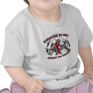 Lung Disease Survivor By Day Ninja By Night Shirts