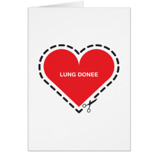 Lung Donee 'Get well soon' Card