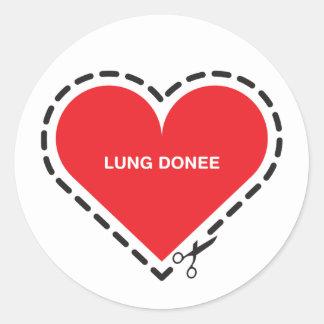 Lung Donee Sticker