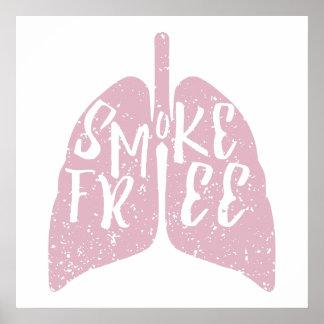 Lung Health Smoke Free Poster