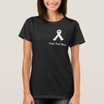 Lungs Cancer Awareness White Ribbon T-Shirt