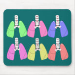 Lungs Multi Colored--Respiratory Therapist Design Mouse Pad