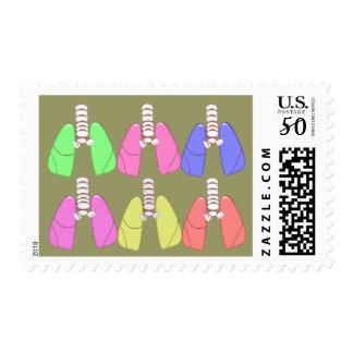 Lungs Multi Colored--Respiratory Therapist Design Postage