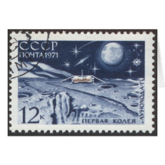 Lunokhod 1 Russian Moon Probe 1970 Card