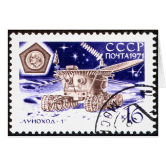 Lunokhod-1 Russian Space Robot Stationery Note Card