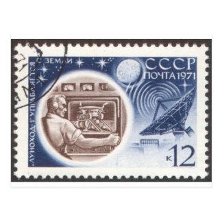 Lunokhod 1 Russian (USSR) Ground Control Postcard