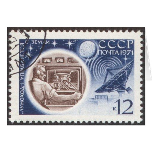 Lunokhod 1 (URSS) control de tierra ruso Tarjeta Pequeña