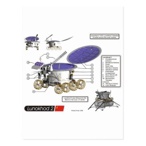 Lunokhod 2 Moon Rover Post Card