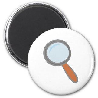 Lupa magnifying glass imán redondo 5 cm