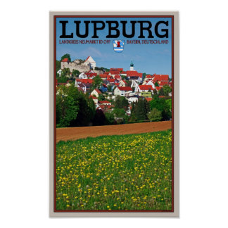 Lupburg - Village View from Fields Poster