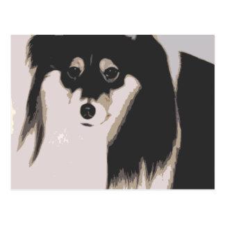 lupe dog cartoon postcard