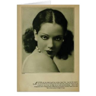 Lupe Velez 1929 vintage portrait card