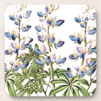 Lupin Floral Flowers Botanical Cork Coaster