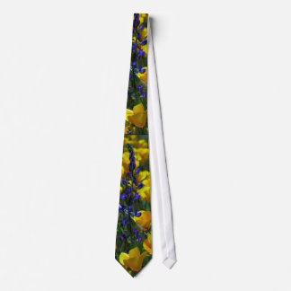 Lupin & Poppy Wildflowers Art Tie
