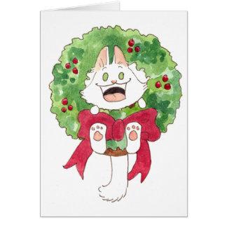 Lupin Wreath Greeting Card
