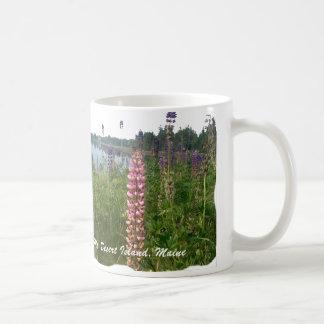 Lupine along coastal Acadia Coffee Mug