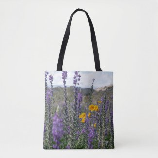 Lupine and Desert Sunflower Tote