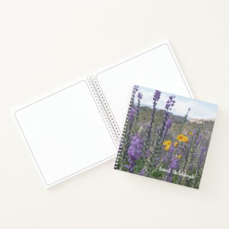 Lupine and Desert Sunflower Travel Sketchbook Notebook