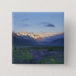 Lupine and the Main Divide, Arthur's Pass, South Pinback Button