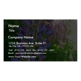 Lupine Blue Flower Business Card Template