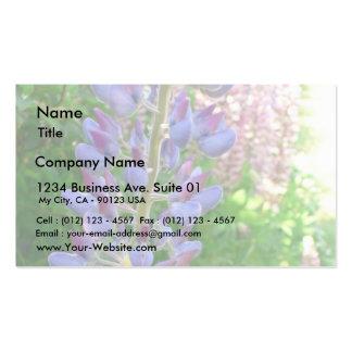 Lupine Blue Flower Business Card