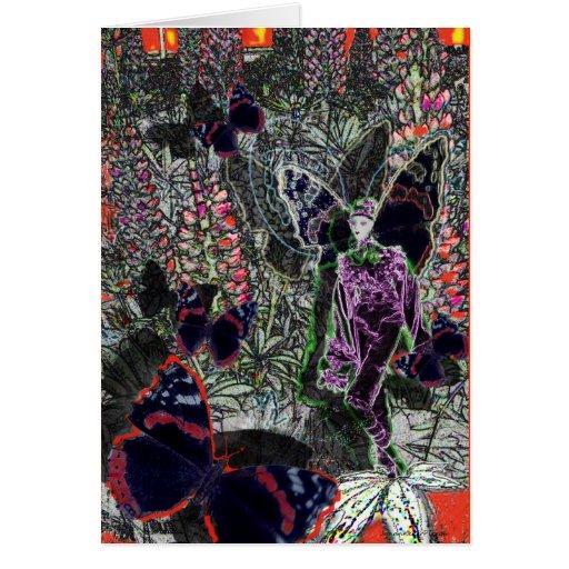 lupine-duende tarjeta de felicitación
