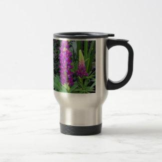 Lupine en el jardín perenne taza de viaje